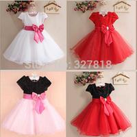 kids christmas clothes children's dresses girls clothes Sequins bowknot casual dress vestidos infantis princess dress for girls