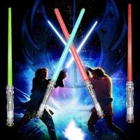 1 Piece Galactic Wars Lightsaber Star Wars Sword Flashing Swords Plastic Scepter Wand  Light Up Kids Party Toy  Super Long 74CM