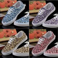 hot sale 2015 Leopard grain shoes Canvas Shoes Low-top Sneakers Shoes for Women's shoes EUR35-39