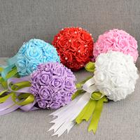 Free Shipping Wedding Bouquets Flower Bouquet Holder Handle Wedding Accessories Bridal Bouquets Bridesmaid Flower 20-22CM BQ310