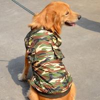 Pet Clothes Big Dog Clothing Autumn Winter Medium/Large Dog Outfit Raincoat Camouflage Coat Golden Retriever Cotton Jacket