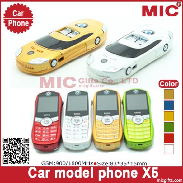 2013 Russian keyboard Dual SIM Card bar small tiny mini sport supercar luxury car model cell