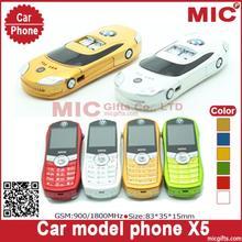 2013 Russian keyboard Dual SIM Card bar small tiny mini sport supercar luxury car model cell mobile phone X5 cellphone P72