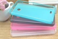 Free shipping 20pcs transparent matte tpu case cover for Hisense E600M with excellent quality different colours