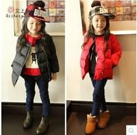 In stock! 2014 Fashion Children Girls coats Solid  winter warm coat &jacket children cotton outwear