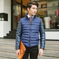 2014 Winter Autumn New Men's Trendy Thick Warm Coat Casual Down Jacket Cotton Polyester Stand collar men's jacket