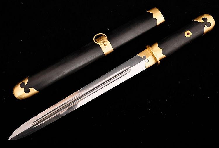 China Longquan sword folding pattern steel double groove Tang sword sword sharp(China (Mainland))