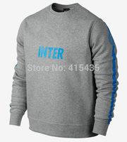 Camisa INTER 2015 Soccer Jerseys Winter Long sleeve Sweater Football Sportwear Training suit