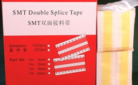 500pcs 8mm Double Face SMT Splice Tape, SMY SMC Assemble, Using Rest Components, Exact in the Raster, Yellow
