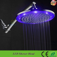 SDH-B2C RGB 7 Color Changing  led hand shower Sprinkler Automatic Control LED Shower Head,Dropshipping wholesale