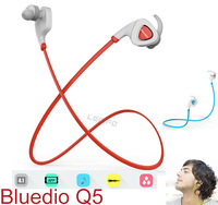 Bluedio Q5 Wireless Bluetooth Earphone And Headphone Noise Isolating Sweat-proof Headset Multi Language Voice Prompt 2015 New