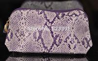 Makeup Organizer 2015 Es Soft Purse Tee Snake Skin Leather Classic Cosmetic Kosmetisk Bag Women Femininas Handbag Clutch Lauder