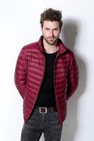 NWT Men's  Light Puffer Down Jacket Packable Coat 7 down wear colors S-3XL