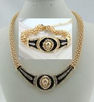 jewelry accessories VERSA gold lion exaggerated  punk women brand  necklace women brand bracelet