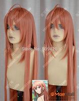 FSX5985Q>>Blast of Tempest Kusaribe Hakaze 100cm Reddish Orange Lolita Cosplay Party Wig
