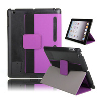 Uniquel Design Magnetic Wake Up Sleep Sport Armband With Loudspeaker Leather Wallet Case Cover For Ipad Mini 1 2 3 & Ipad 2 3 4
