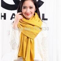 Hot Sale New Fashion Women Girl Winter Warm Woolen Knitted Tassels Scarf Men Simple Scarves Shawl Neckerchief Free Shipping