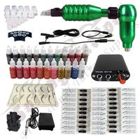 SALE ! Hawk Rotary Tattoo Machine Gun Kit Permanent Makeup Pen+ Power Supply+50 pcs Needles + 23 ink free shipping