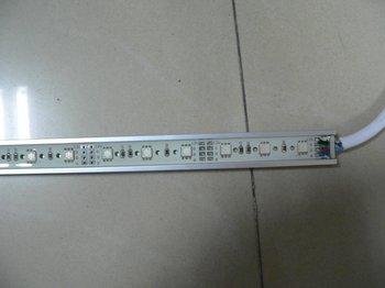 waterproof 5050 SMD LED Rigid strip light;24pcs 5050 SMD led;0.5m long;metal housing,please advise the color(R/G/B/W/WW/G/RGB)