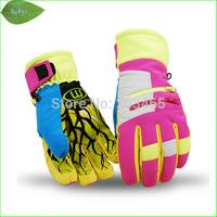 SG22K  Winter Women  Waterproof Snow Gloves Outdoor Women Skiing gloves Snowboarding Gloves For  the Women