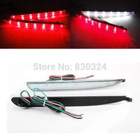 For 03-08 Mazda6 24 LED Rear Bumper Reflector Clear Lens Tail Brake Light