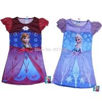 2014 New Frozen Dress Elsa&Anna Summer Dress For Girl Princess Dresses Brand Girls Dress Kids Clothing