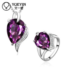 FVRS021 2015 new fine jewelry sets Extravagant Party jewlery set for lady Fashion Big Crystal set