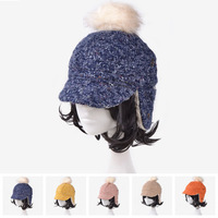 Winter Bomber Hats For Women 5 colors Fur Hat With Ear 2014 New Brand Fashion Caps Female Warm Russian Hat YJK-F125