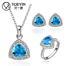 FVRS024 2015 new fine jewelry sets Extravagant Party jewlery set for lady Fashion Big Crystal set