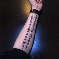 1pc/lot/AX35,Arm Temporary Tattoo sticker/Tibetan language/waterproof Big size fake tatooed body art/Arm,Armband,hand,Back,shank