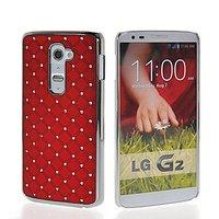 Hard Luxury Chrome Rhinestone Bling Star Back Case Cover For LG G2