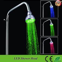 Hot-Free Shipping SDH1-A2T Filter Pressurize Saving Water Temperature Sensor 3 Colors Change LED Rain Bathroom Shower Head