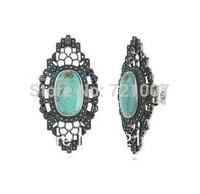 Australian Brand Vintage Drop Stone Rings New 2014 Fashion Vintage Accessories Stone Bohemian  Women Wedding Fine Jewelry SW