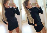 New fashion 2015 winter women casual dress elegant dress women work wear vestidos High collar tight dress plus size
