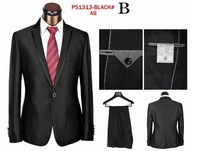 Top Quality Brand Men's Business Suits Good Quality Single Breasted Wool Brand Black Formal Wedding Blazers Size 46-58