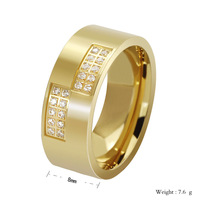 anel 2014 Hot Sales New Arrival Gold and Black Titanium Ring Shinning Setting Rings for men and women senhor dos aneis