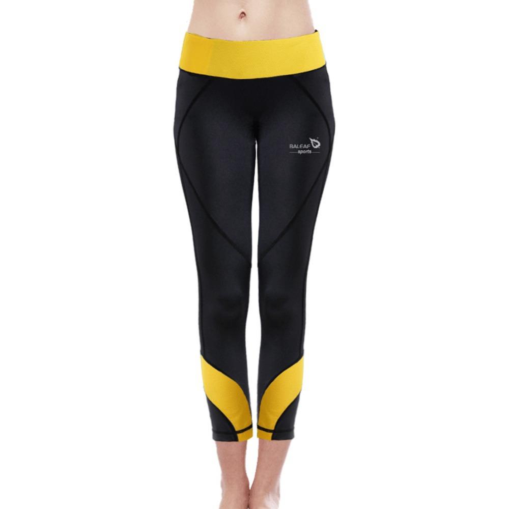 Baleaf New Arrival Women Fitness& Yoga Leggings W/ Waistband Highly Elastic Slim-fitting GYM Bodybuilding Runing Exercise Pants(China (Mainland))