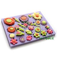 Free Shipping Sunflower fondant cake molds silicone mold mobile beauty cake decorating tool soap  chocolate fondant molds F0314