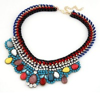 Vintage Necklace Luxury 2015 New Fashion Women Statement  Necklaces Collar Chokers Jewelry  DFX-715