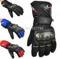 Pro-biker Motocross Motorbike Off-road Racing Waterproof Cycling Bicycle Black Winter Warm Armed Ski Motorcycle Gloves M-L-XL