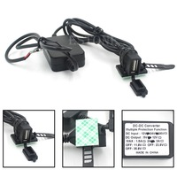 12V 2.1A USB Power port Dual Charger for Motorcycle Smartphone iPhone Android GPS