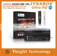 5pcs/lot Jynxbox Ultra HD V6 TV Receiver FREE JB200 8PSK Module& wifi antenna