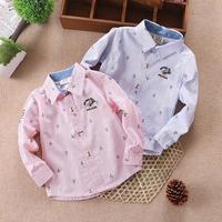 2015 new children's Korean shirts boys anchor shirt children in 1-5 years old children small long sleeved shirt