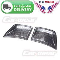 for 08-11 Subaru Impreza WRX STi X GRB Hatchback Carbon Fiber Front Bumper Side Vents