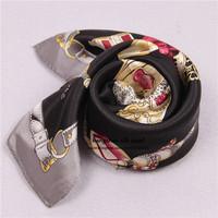 "21""x21""  women sexy leopard perfume silk scarf black / 100% silk pocket  squares scarves wholesale  free shipping"