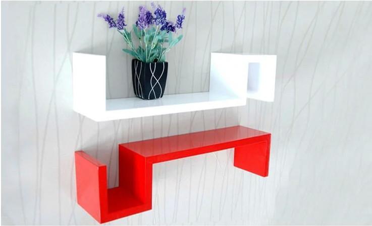 Wandrek Keuken Hout : kleine houten wandrek keuken rekken decoratieve frame creatieve plank