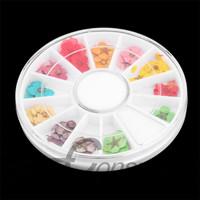 1Set DIY Acrylic UV Gel Nail Art Design 3D Dried Flower Tips Decoration Wheel Newest