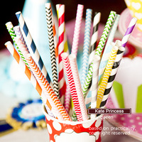 Free shipping 250pcs/lot paper straw colorful drink strip paper straws wedding decor home decors Party Supplier PS-S- RG0645