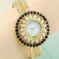 Fashion Watch Women girls Ladies Golden bangle rhinestone diamond watches Quartz Wrirstwatches Watch Relogio Feminino CX03