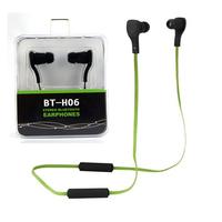 Bluetooth Headphones BT-H06 Stereo Headset One String Earphone Earbuds for iPhone 4 5 6 Samsung HTC Xiaomi Smartphone Earphones